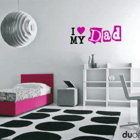 Bambini Wallstickers e luminescenti I Love My Dad