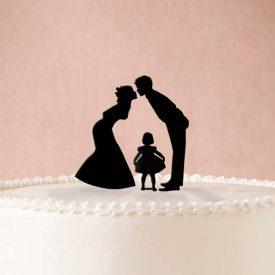 Tavola e cucina Accessori tavola Baciamoci Con La Bimba Cake Topper Matrimonio Cake Topper