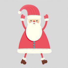 Natale Wallstickers Natale Babbo Natale 2