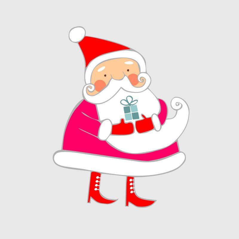Natale Wallstickers Natale Babbo Natale 5
