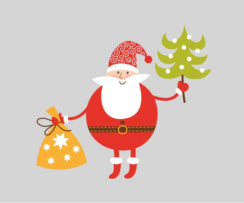 Natale Wallstickers Natale Babbo Natale 6