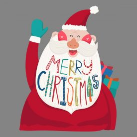 Natale Wallstickers Natale Barba Merry
