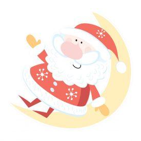 Natale Wallstickers Natale Papa Noel Lune