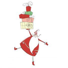 Natale Wallstickers Natale Papa Noel Present