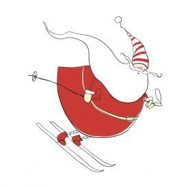 Natale Wallstickers Natale Papa Noel Sky