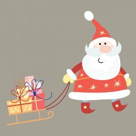 Natale Wallstickers Natale Papa Noel Slitta