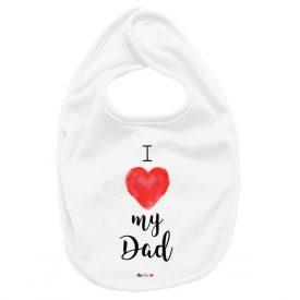 Bambini Bavaglini Bavaglino Love Dad