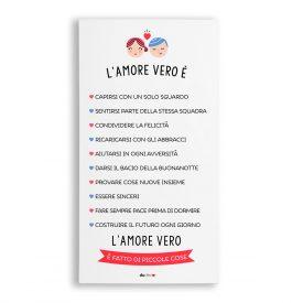 Decorazioni living Canvas Quadretti Amore Vero Canvas