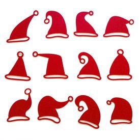 Natale Accessori tavola per Natale Kit 12 Sottobicchieri Cappelli