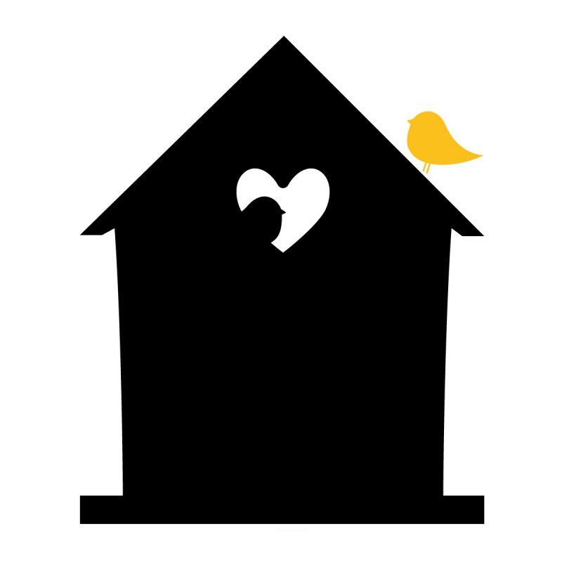 Wallstickers Lavagne Adesive lavagna Bird Love
