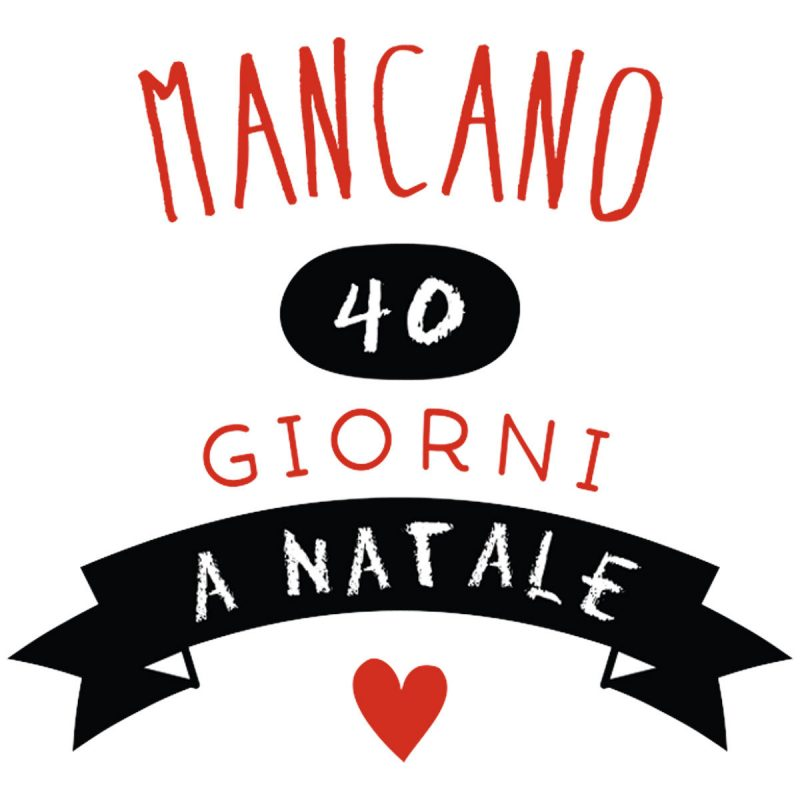 Natale Wallstickers Natale Countdown Lavagna