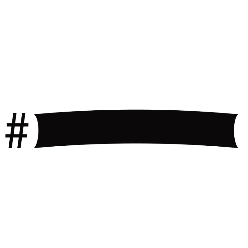 Wallstickers Lavagne Adesive Hashtag Lavagna