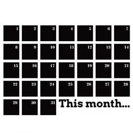 Wallstickers Lavagne Adesive lavagna calendario
