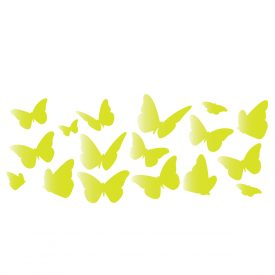 Bambini Wallstickers e luminescenti Farfalle