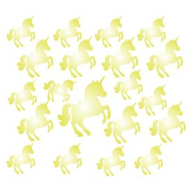Bambini Wallstickers e luminescenti Unicorni Lumiscenti