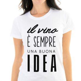 Lifestyle T-shirt T-shirt Vino Buona Idea Lei