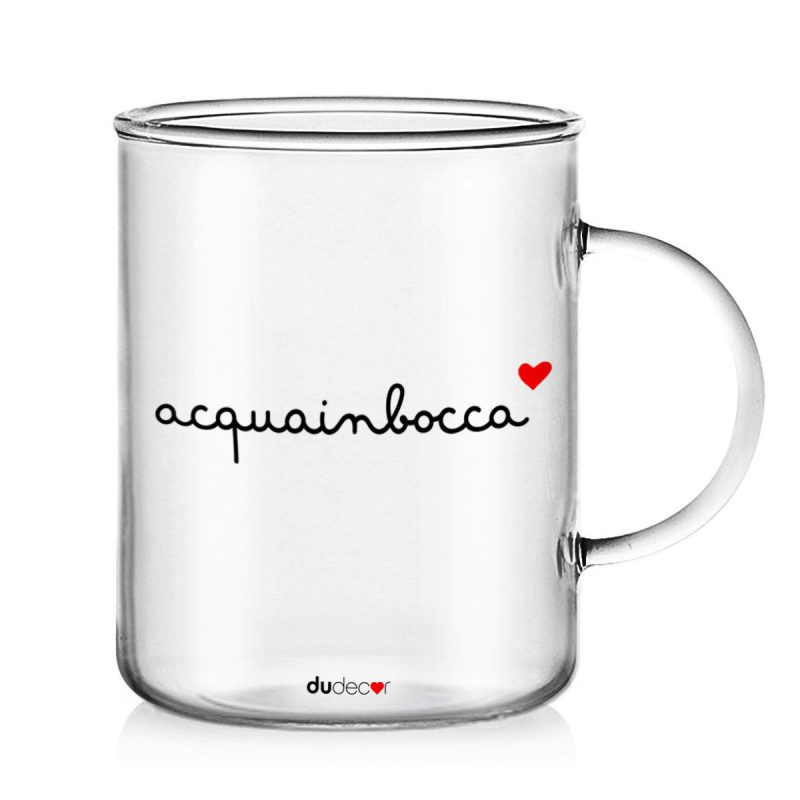Tavola e cucina Tazze in vetro Acqua In Bocca Mug