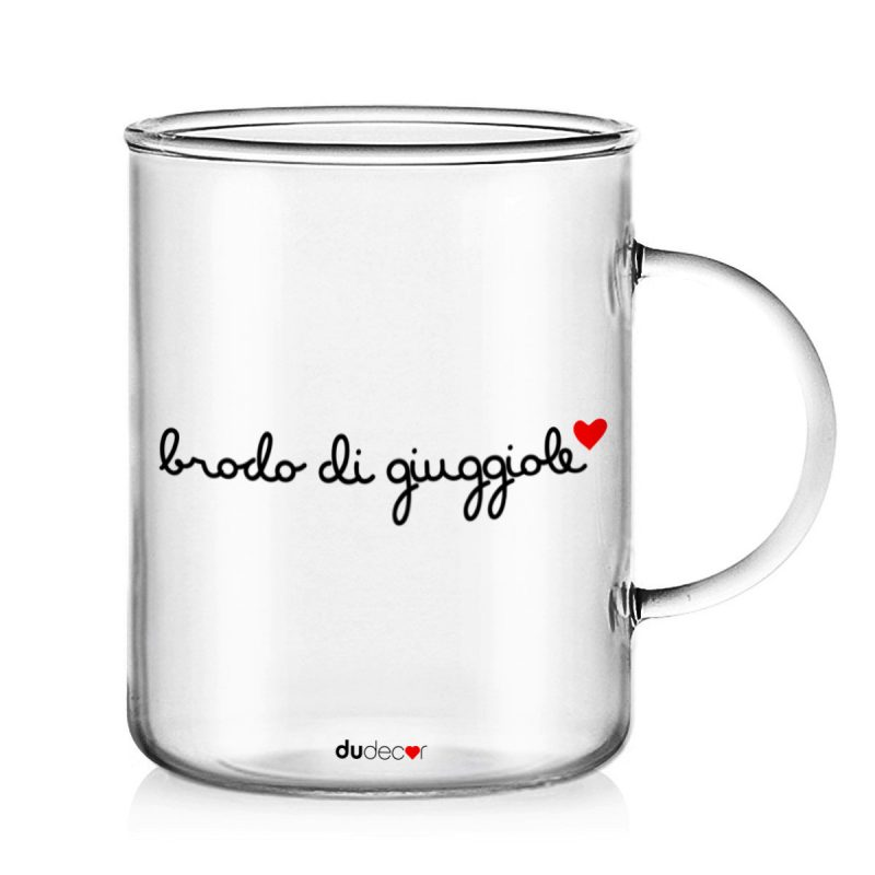 Tavola e cucina Tazze in vetro Brodo Di Giuggiole Mug