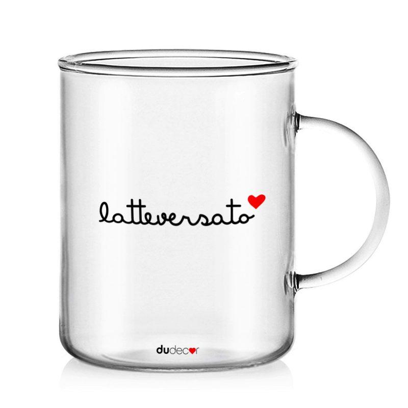 Tavola e cucina Tazze in vetro Latte Versato Mug