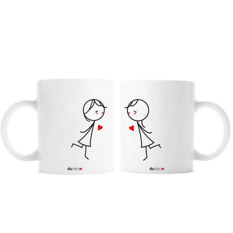 Tavola e cucina Tazze in ceramica Bacio Girl Girl Mugs