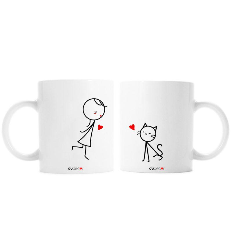 Tavola e cucina Tazze in ceramica Bacio Lei Cat