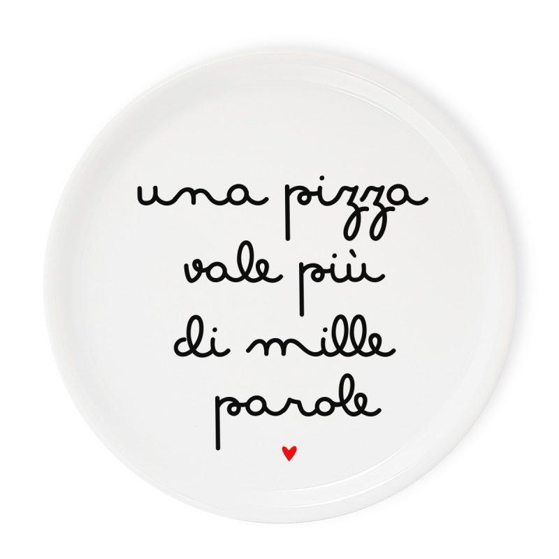 Tavola e cucina Piatti pizza Piatto Pizza Mille Parole
