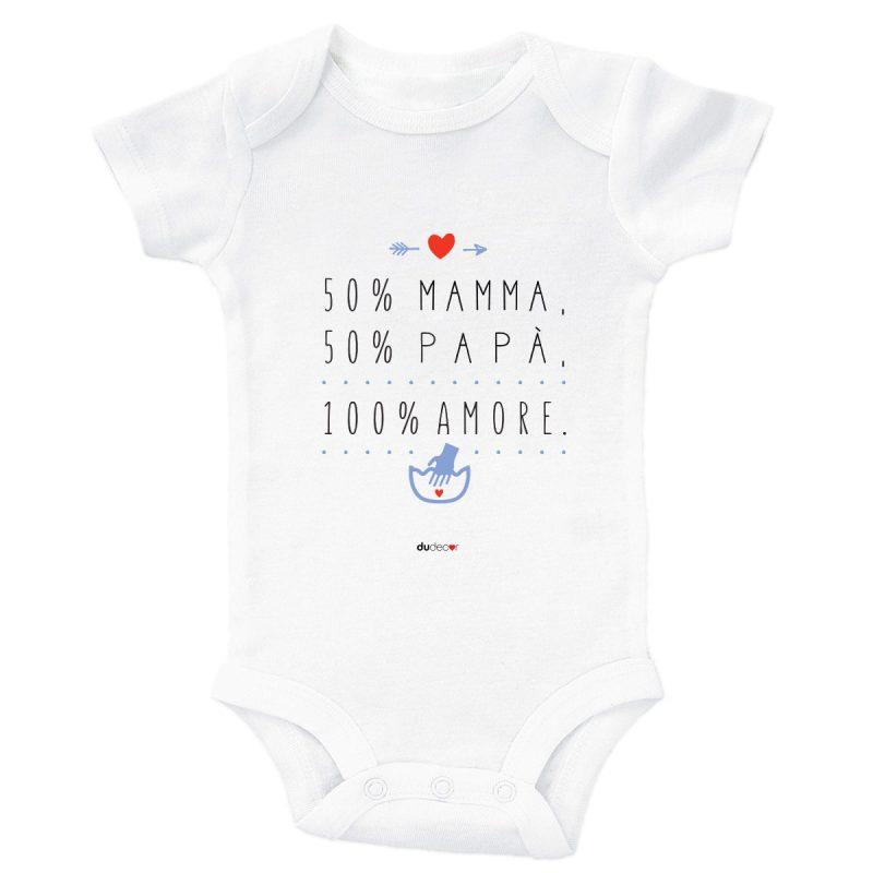 Bambini Tutine e maglie 100% Amore Bodysuit Bianco