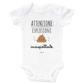 Bambini Tutine e maglie Esplosioni Bodysuit Bianco