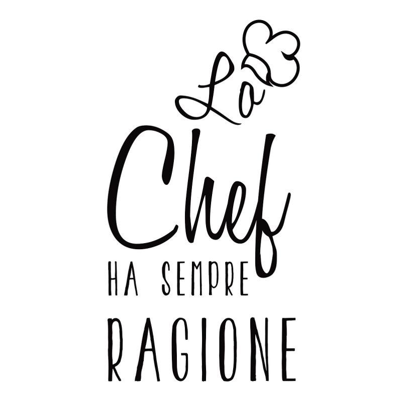 Wallstickers Citazioni Chef Italiano