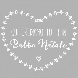 Natale Wallstickers Natale Crediamo In