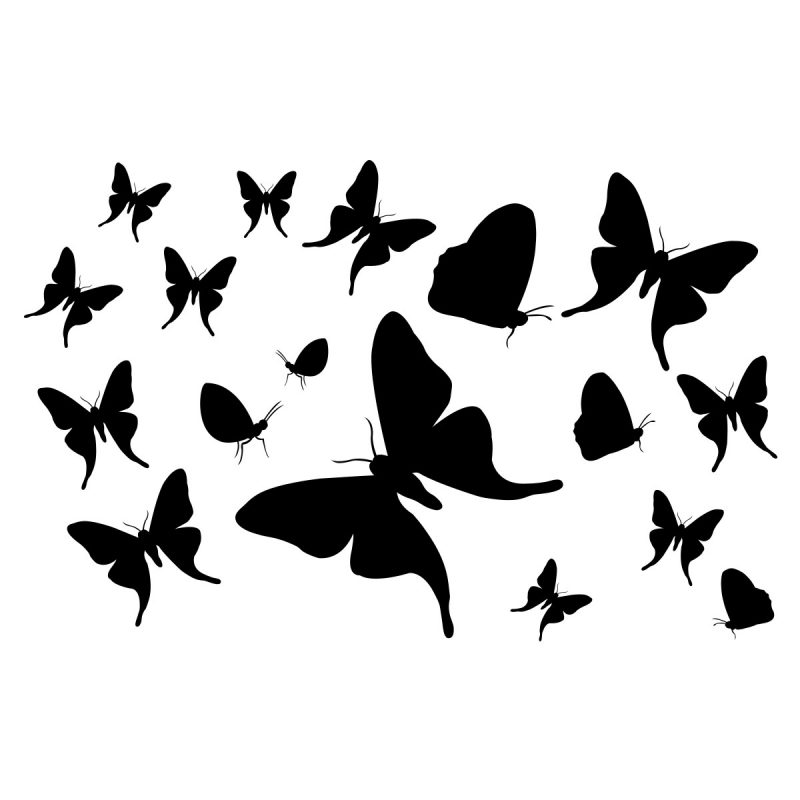 Wallstickers Natura e viaggi Farfalle