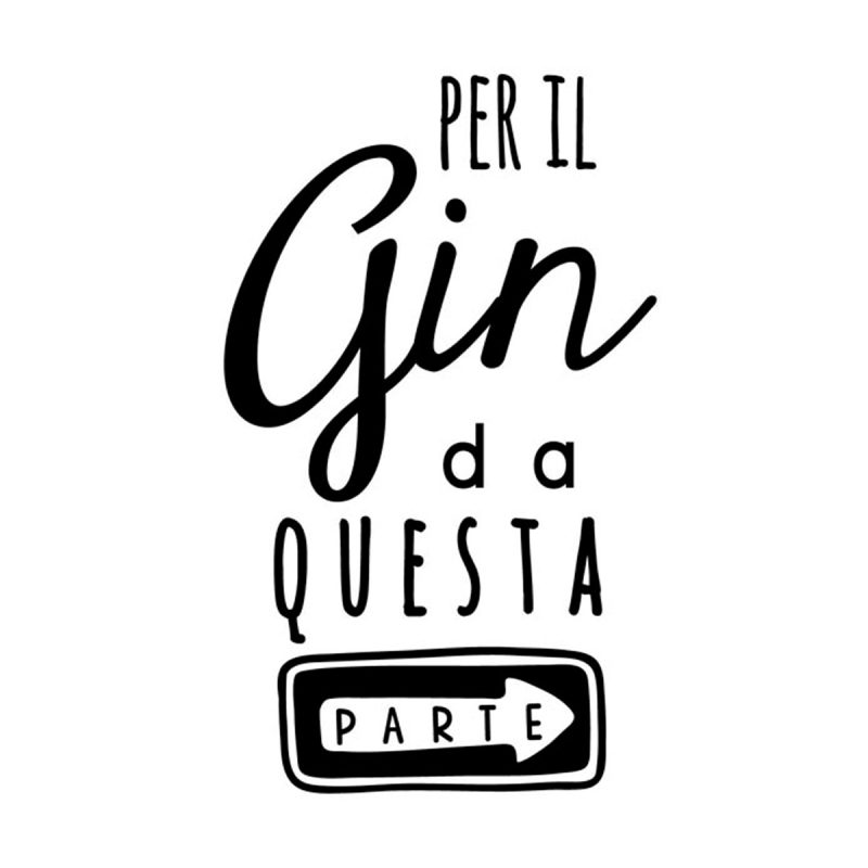 Wallstickers Citazioni Gin