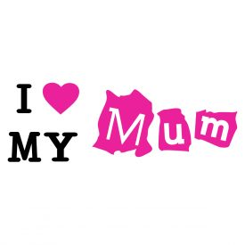 Bambini Wallstickers e luminescenti I Love My Mum