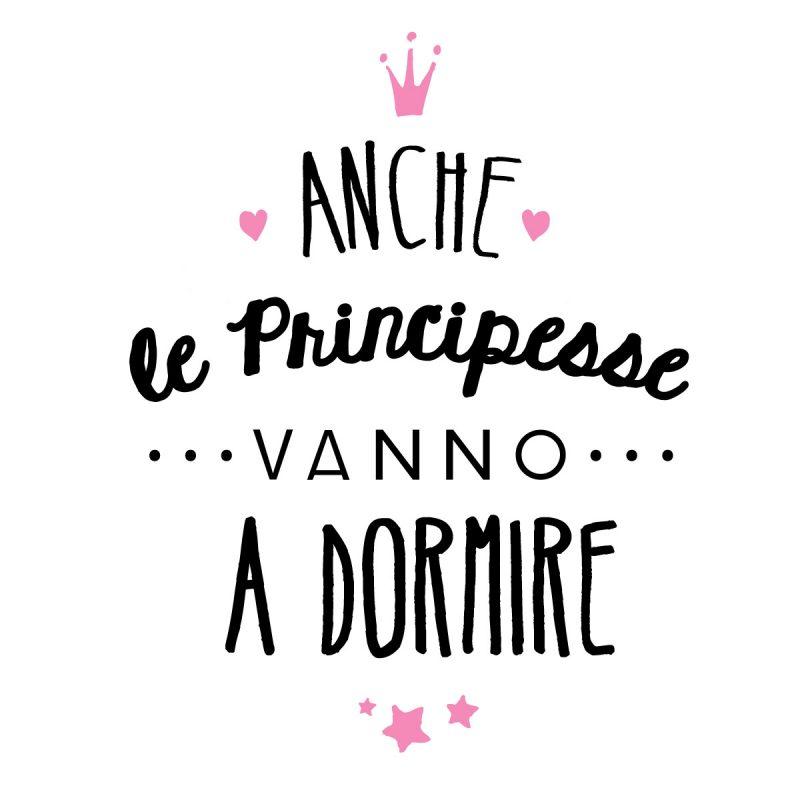 Bambini Wallstickers e luminescenti Le Principesse Vanno A Dormire