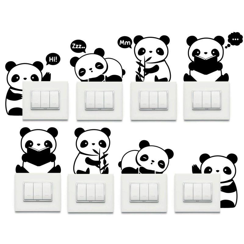 Wallstickers Natura e Viaggi Panda Presa Kit 8 Pz