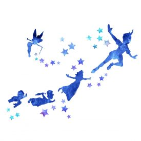 Bambini Wallstickers e luminescenti Peter Pan Water