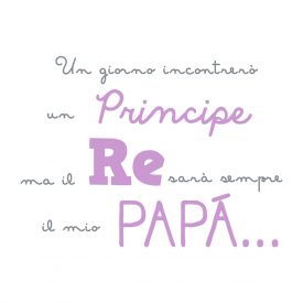 Bambini Wallstickers e luminescenti Re Papa Lilla