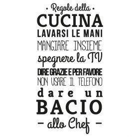 Wallstickers Citazioni Regole Della Cucina