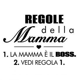 Wallstickers Citazioni Regole Della Mamma