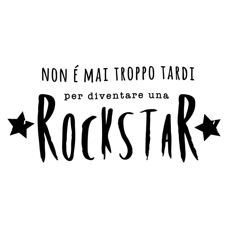 Wallstickers Citazioni Rock Star