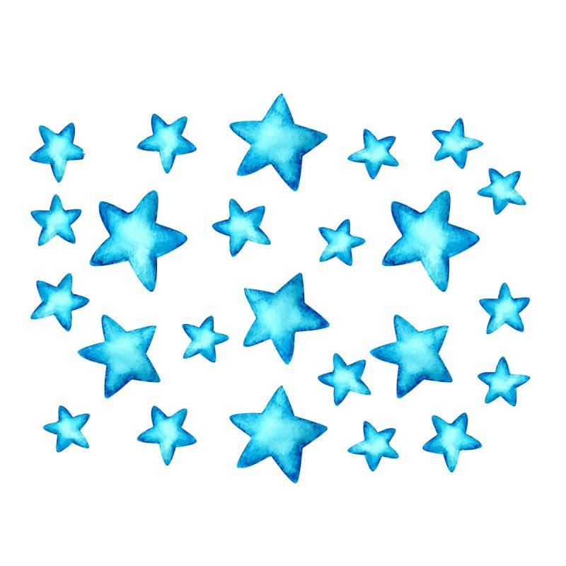 Bambini Wallstickers e luminescenti Stelle Blu