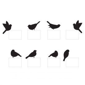 Wallstickers Natura e Viaggi Uccellini Presa Kit 8 Pz