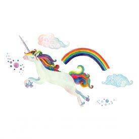 Bambini Wallstickers e luminescenti Unicorno