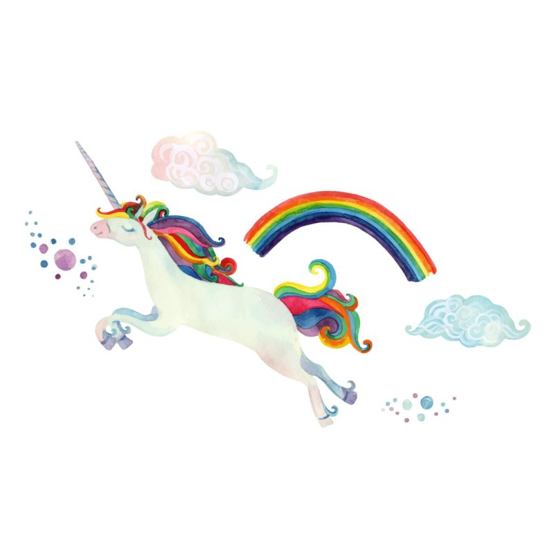 Bambini Wallstickers e luminescenti Unicorno