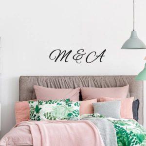 dudecor frasi personalizzate wallstickers camera da letto