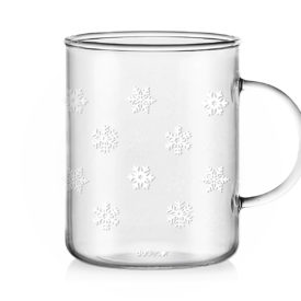 Tazza in Vetro Fiocchi di Neve